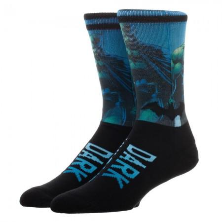 Batman Dark Knight Sublimation Knit Men's Crew Socks