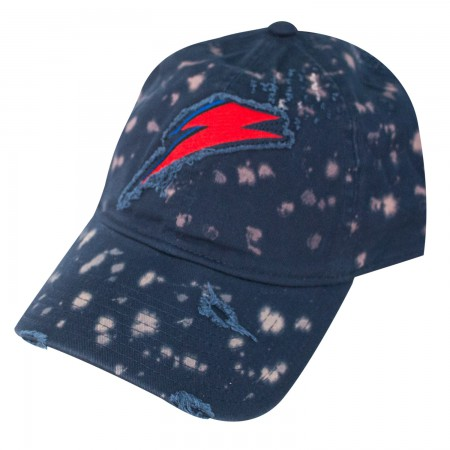 David Bowie Lightning Bolt Logo Bleached Hat