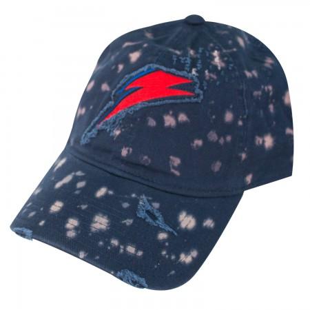David Bowie Lightning Bolt Bleached Hat