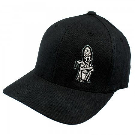Dead Guy Black Embroidered Flex Fit Hat