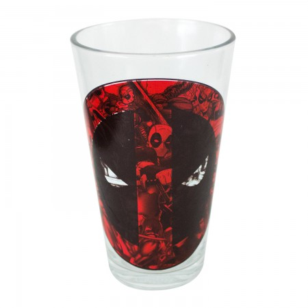 Deadpool Logo 16 Ounce Pint Glass