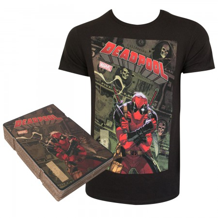 Deadpool Men's Black Corrugated Boxed T-Shirt