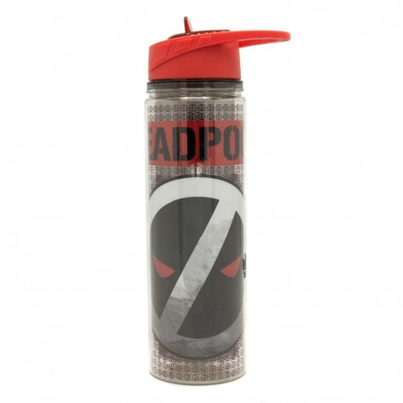 Deadpool Reverse Logo 18oz Water Bottle