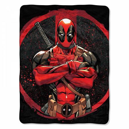 Deadpool Tough Guy 40x60 Throw Blanket