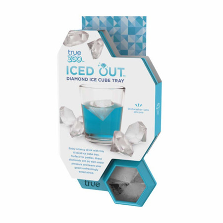 Diamond Teal Silicone Ice Cube Tray