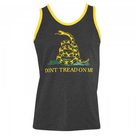 Patriotic Men's Grey Don't Tread On Me Tank Top