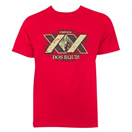 Dos Equis Men's Red XX T-Shirt