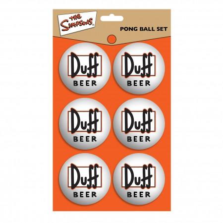 Simpsons Duff Beer Logo Pong Ball Set