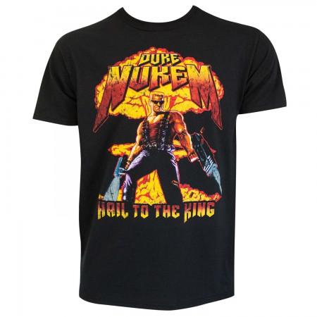 Duke Nukem Men's Black Hail To The King T-Shirt
