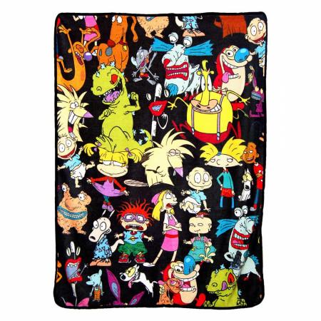 """Nicktoons Micro Raschel 46""""x 60"""" Throw Blanket"""