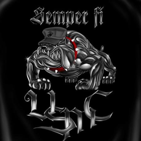 Semper Fi Marine Corps USA Patriotic Black Graphic Tee Shirt}