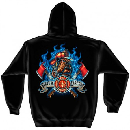 USA Fire Department Black Graphic Hoodie Sweatshirt FREE SHIPPING}