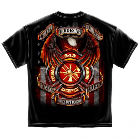 Firefighter True Heroes Shirt - Black