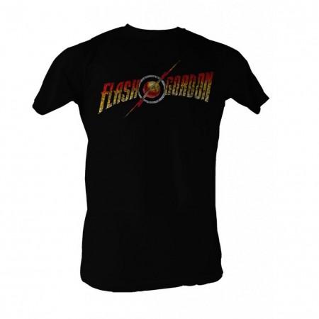 Flash Gordon Full Color Logo Men's Black T-Shirt