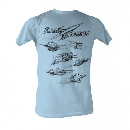 Flash Gordon Rockets Men's Blue T-Shirt