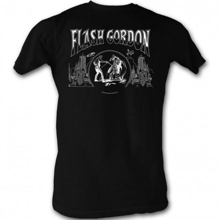 Flash Gordon Jack Flash Men's Black T-Shirt