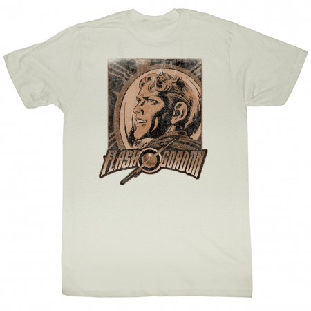 Flash Gordon Shocking Men's White T-Shirt