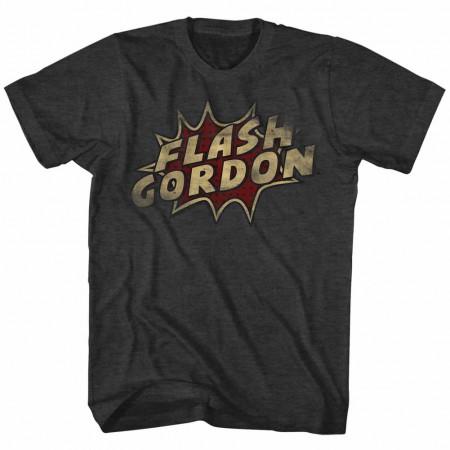 Flash Gordon Dots Mens Black T-Shirt