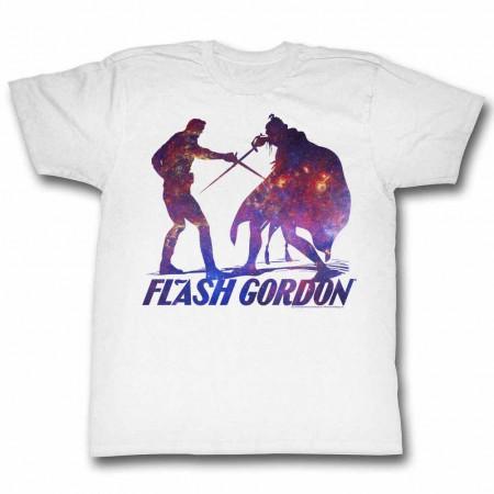 Flash Gordon Silhouphite Mens White T-Shirt