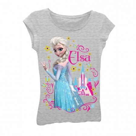 Disney Frozen Girls 7-16 Grey Elsa T-Shirt