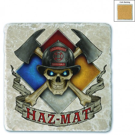 Firefighter Haz Mat Stone Coaster