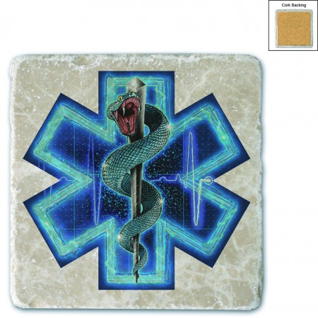Silver Snake EMT On Call Stone Coaster