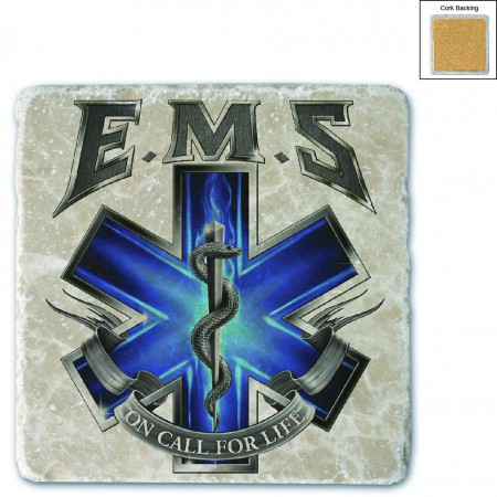 On Call For Life EMS Stone Coaster