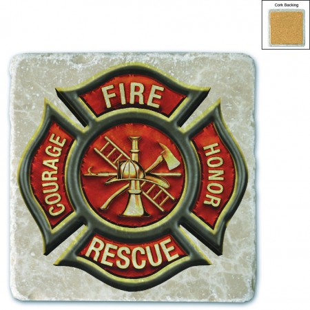 Firefighter Classic Fire Maltese Stone Coaster