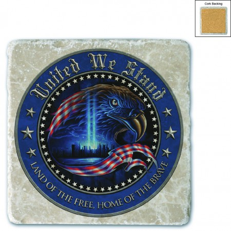 United We Stand Patriotic USA Stone Coaster