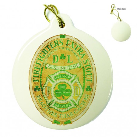 Firefighter Irelands Bravest Porcelain Ornament