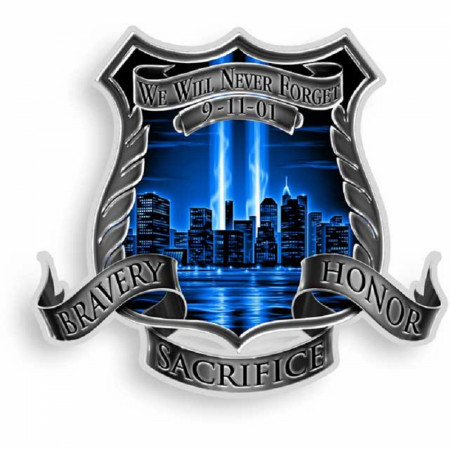 Never Forget Blue Decal Sticker