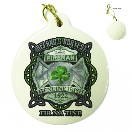 Firefighter Garda Ireland's Bravest Porcelain Ornament