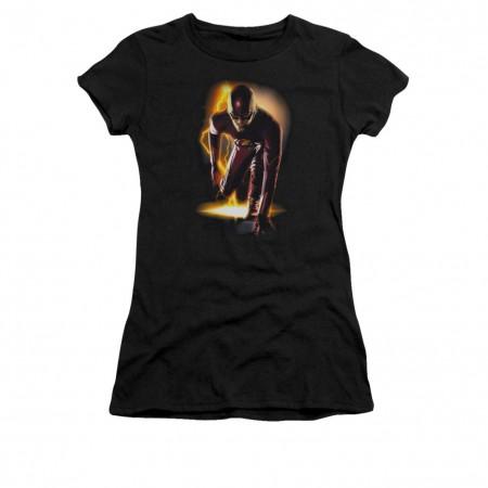 The Flash Ready Black Juniors T-Shirt