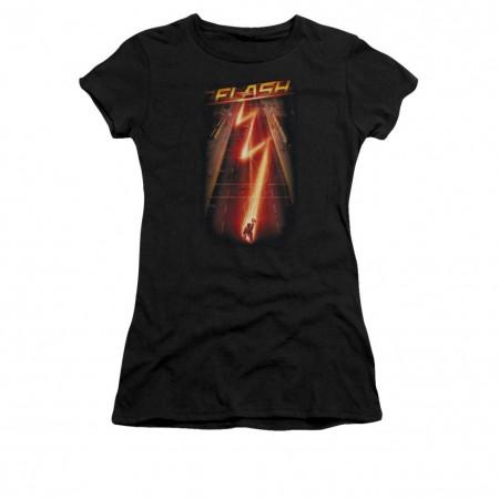 The Flash Ave Black Juniors T-Shirt
