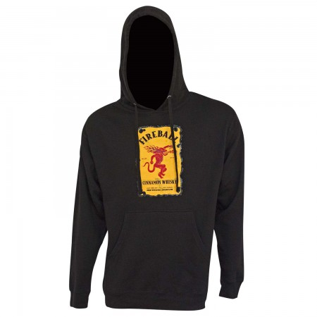 Fireball Black Bottle Label Design Hoodie