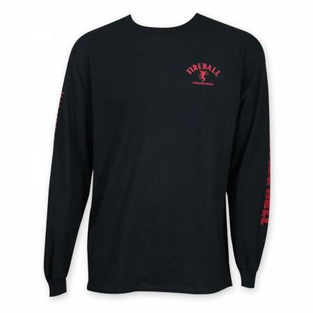 Fireball Men's Black Long Sleeve Shirt