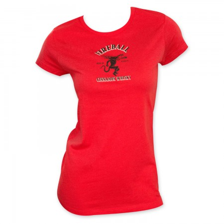 Fireball Cinnamon Whisky Women's Red T-Shirt