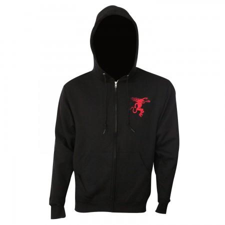 Fireball Black Zip Hoodie