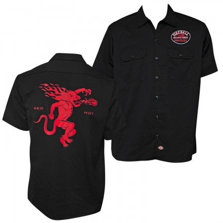 Fireball Whisky Button Down Red Hot Work Shirt