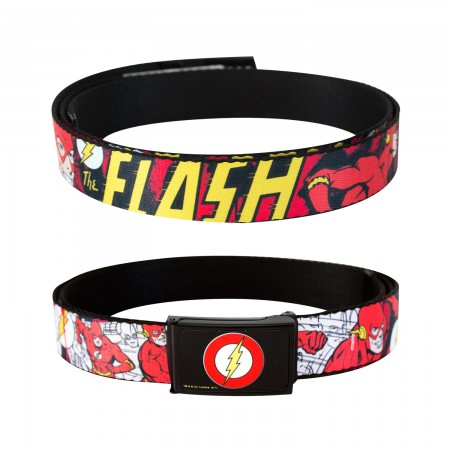 The Flash Red Comic Strip Belt