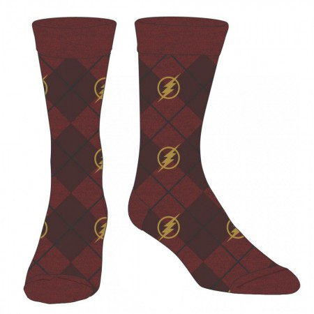 Flash Red Logo Men's Dress Socks
