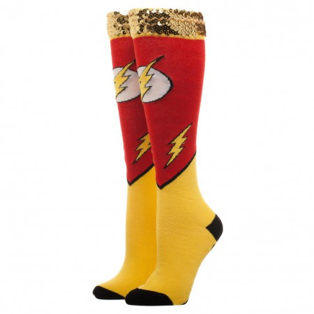 The Flash Women's Sequin Knee High Socks