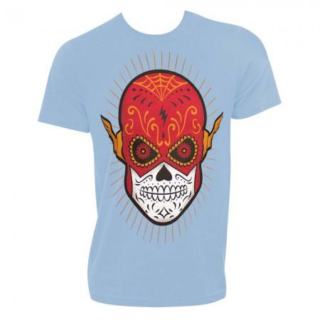 The Flash Sugar Skull Blue Tshirt