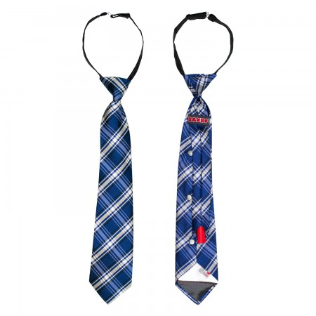 Blue White Black Secret Flask Tie