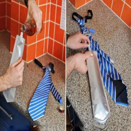 Blue White Black Flask Tie