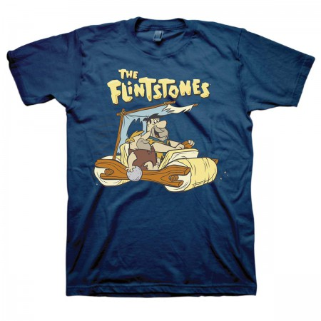 Flintstones Men's Navy Blue Fred And Barney T-Shirt