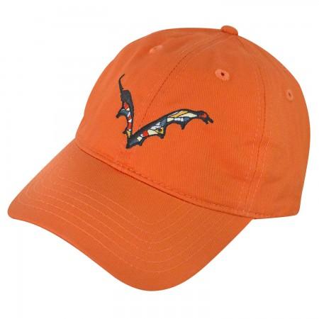 Flying Dog Beer Batwing Logo Orange Dad Men's Hat