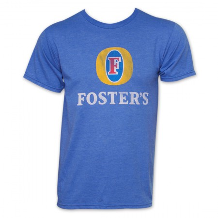 Foster's Beer Basic Logo T Shirt - Heather Blue