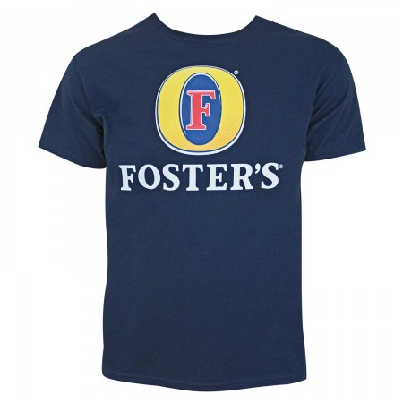 Foster's Beer Logo Men's Navy Blue T-Shirt