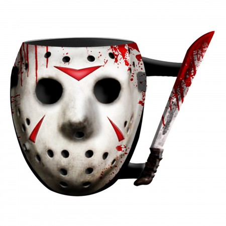Friday The 13th Bloody Jason Mask Sculpted Mug